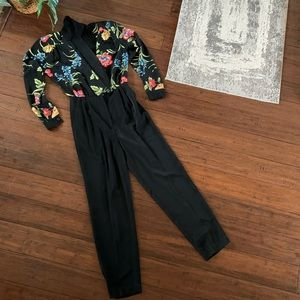 VTG. Jumpsuit Floral 80'/90's Sexy
